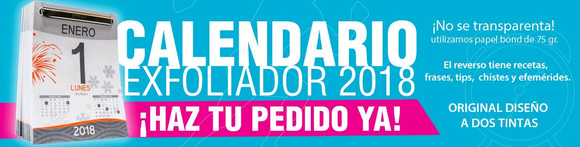 Calendario Exfoliador 2018