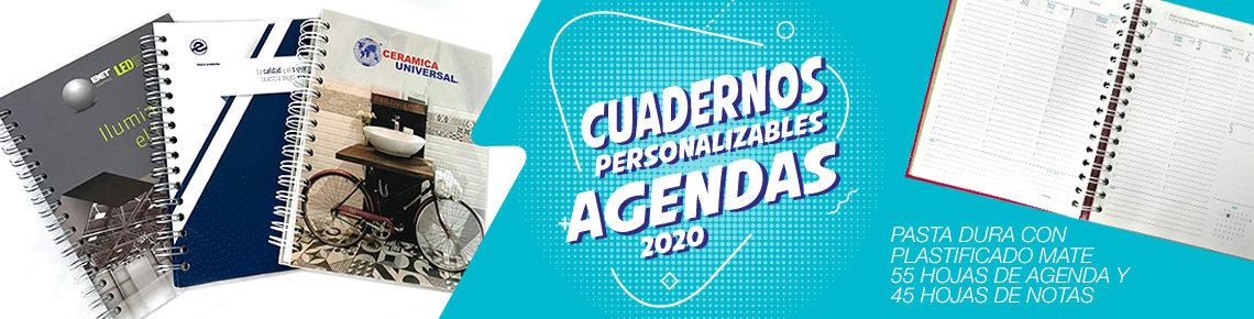 Agendas 2020 y cuadernos personalizados