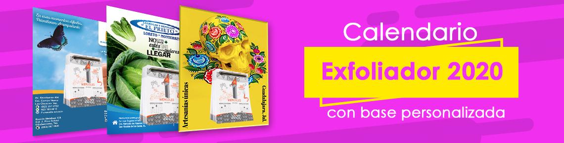 Calendario exfoliador 2020 con base personalizada
